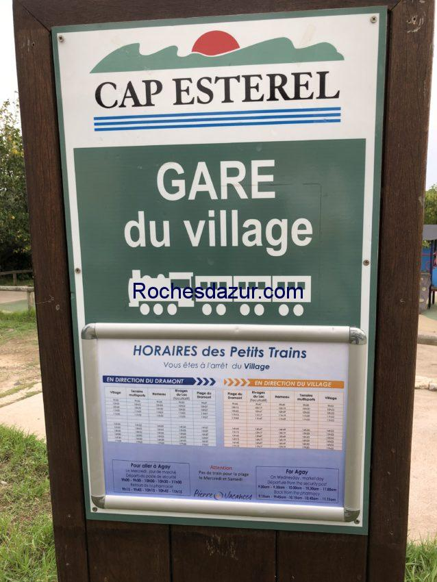 Horaires du petit train du village