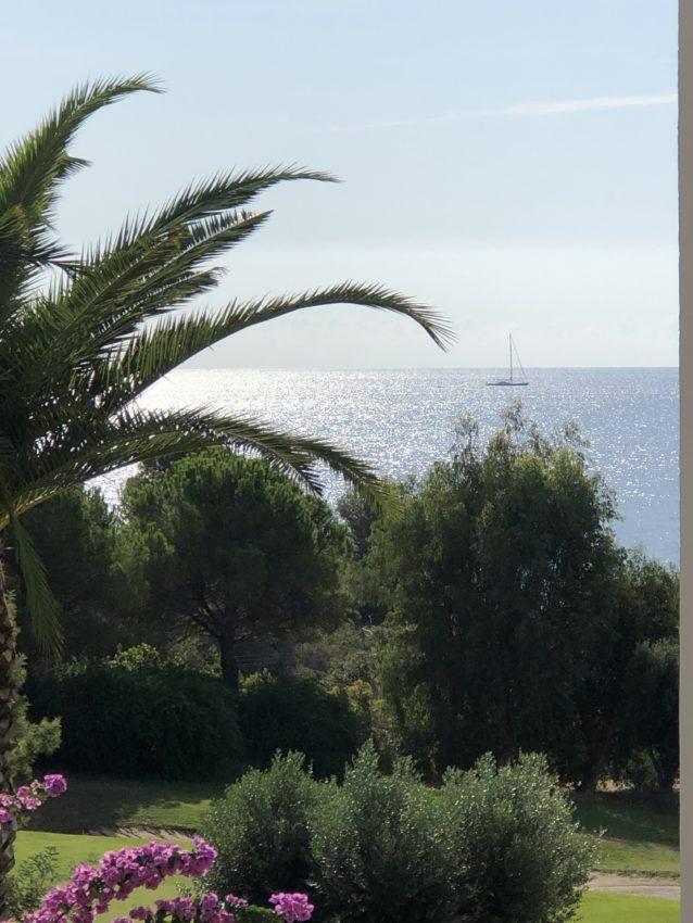 La mer depuis la terrasse