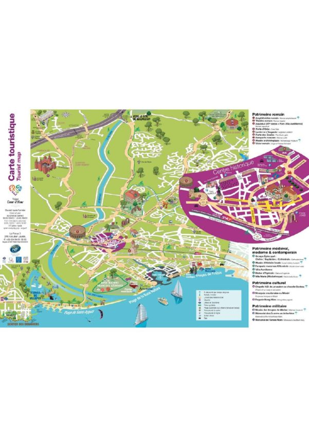 Carte Touristique de Frejus